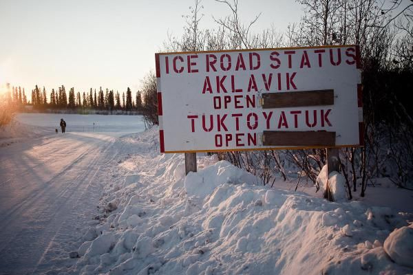 Ice Road from Inuvik to Tuktoyaktuk