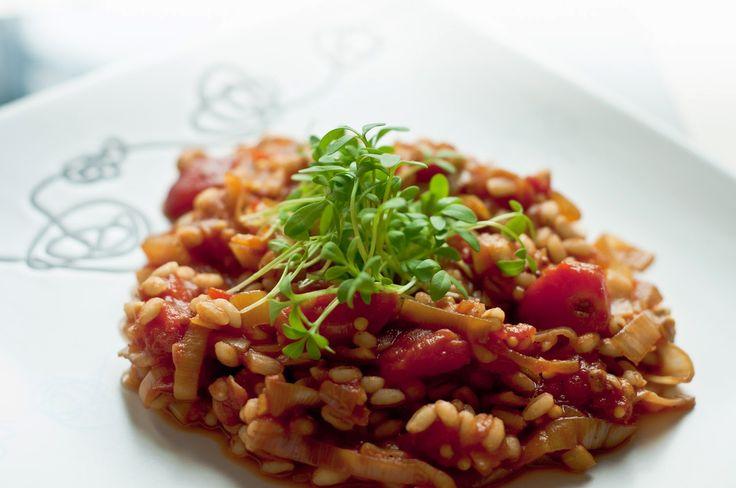 Apetyt na Zielone - zdrowo jem i gotuję: Pęczotto z pomidorami.