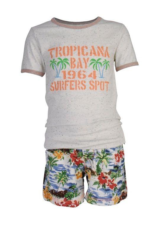 #Claesens pyjama shortama voor jongen Hawaii | Claesen's pajama shortama Hawaii for boys #nightwear #kids #kinderpyjama