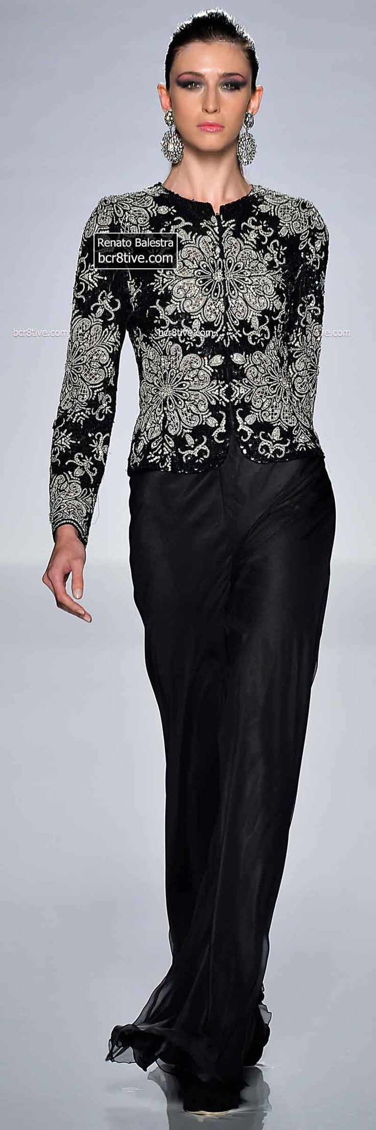 Chic Embroidered Jacket and Dress Pants