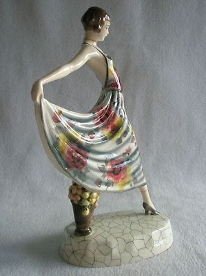 Woman Art Deco Goldscheider Ceramic Dakon Circa 1927 of Vienna Made in Austria   eBay