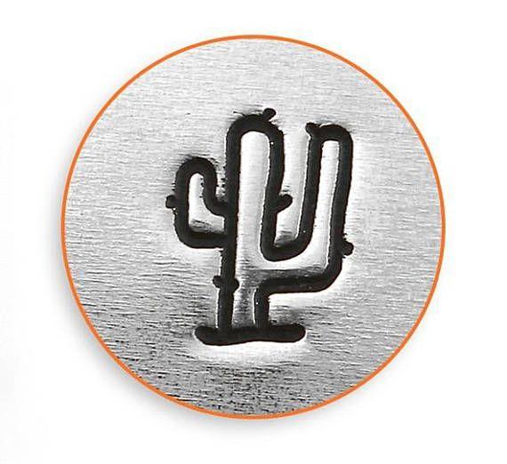 Tampon cactus pour estampillage de métal pour bijoux