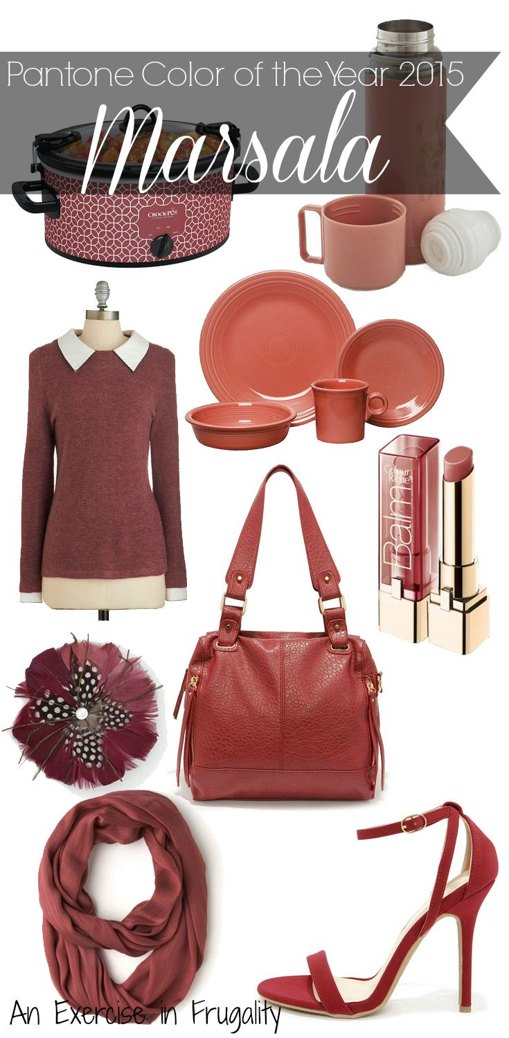 18 best Marsala Everything, Pantone\u0027s Color Of 2015 images on ...