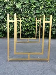 Bilderesultat for square table base gold coloured
