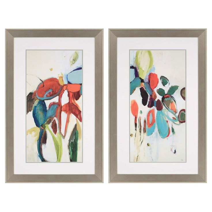 Paragon floral hints framed wall art set of 2 4022