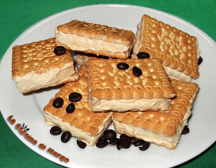 Biscotto gelato fatto in casa, senza gelatiera