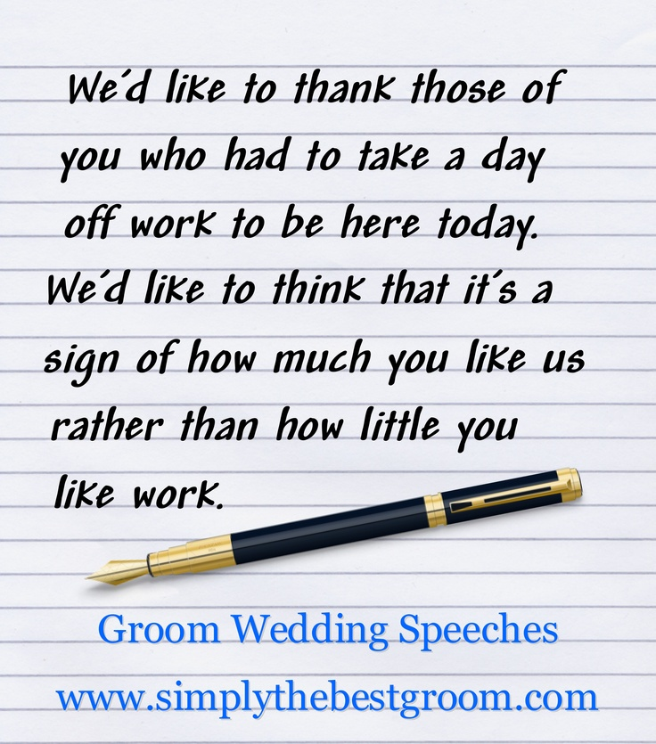 Groom's Speech  www.simplythebestgroom.com