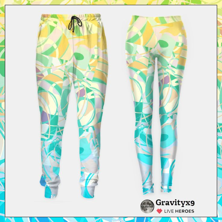 Sweatpants, Yoga pants and leggings~ Beach Summer Days Summer Fashion by #Gravityx9 at #LiveHeroes - Original and one of its kind design, unique full print on unisex fashion. This design is also available on more fashion, home decor, winter wear and more. #womensfashion #fashion #leggings