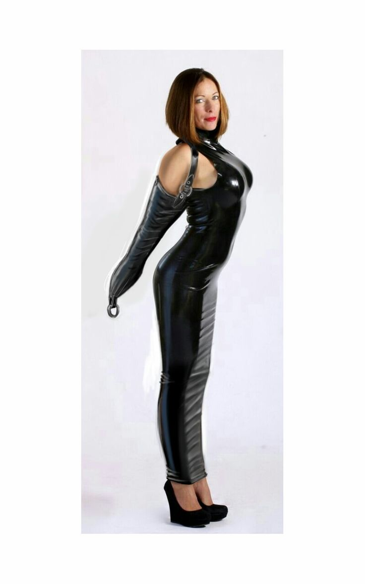 dress Latex hobble