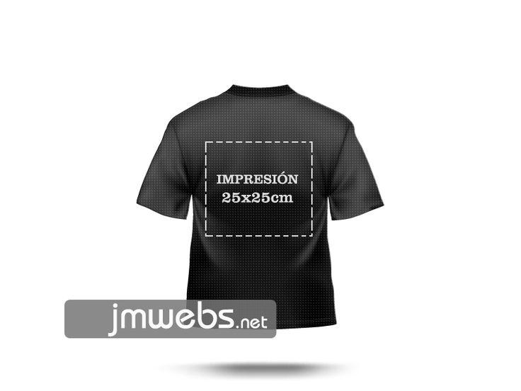 Camisetas Técnicas Deportivas personalizadas con estampación en vinilo de corte y/o impresión. Por delante y/o detrás medida 25x25cm. Precios en nuestra web: www.jmwebs.net o Teléfono 935160047