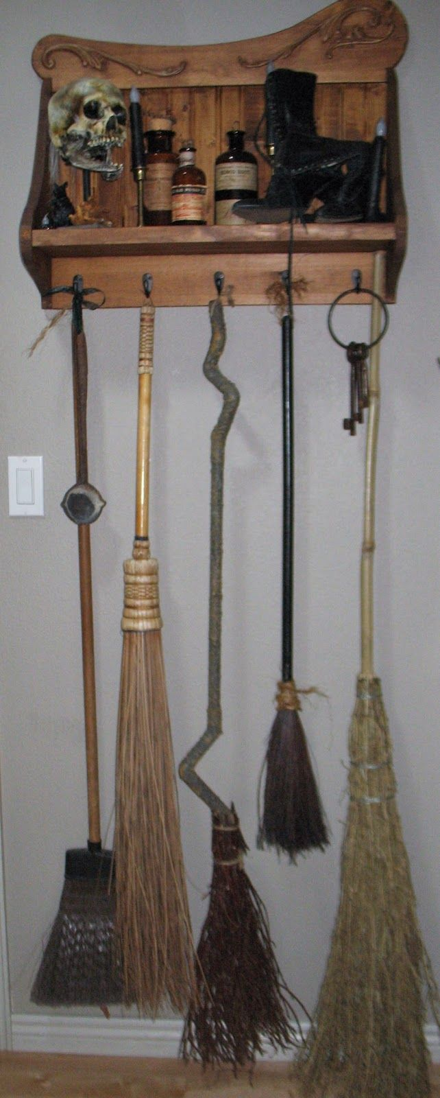 A different broom to suit your mood...lol~ Witch broom holder~