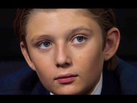 Is Barron Trump Autistic? This is sad. Please watch. Remember being 10 years old? Poor kid. Autism or not he looks like he is being tortured having to stand there like that for so long - painfully disinterested. What a beautiful child.  #StopTheBullying