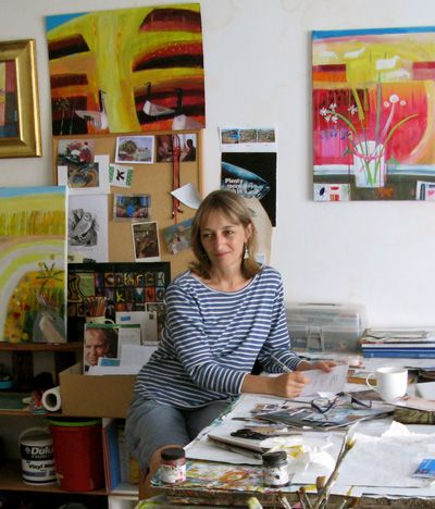 Mary Sumner, Devon, UK. Well known and widely exhibited in the South-West, Mary has recently returned to painting and printmaking via producing decorative textiles.
