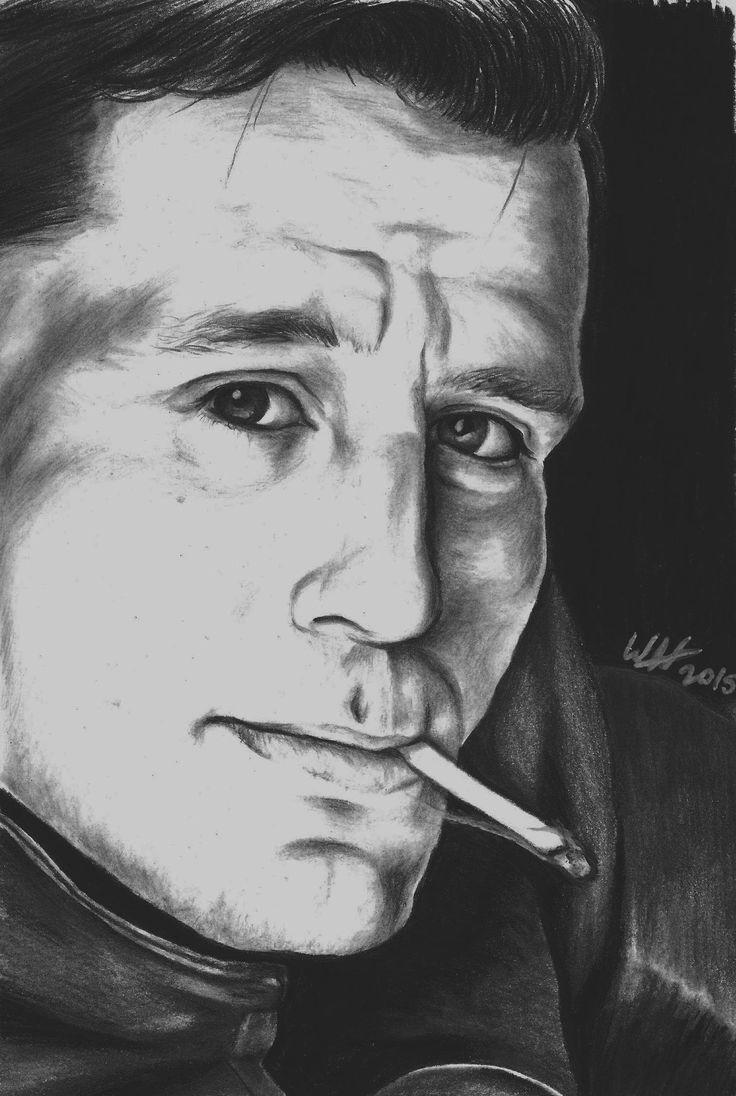 Pencil sketch of a young Jack Kerouac