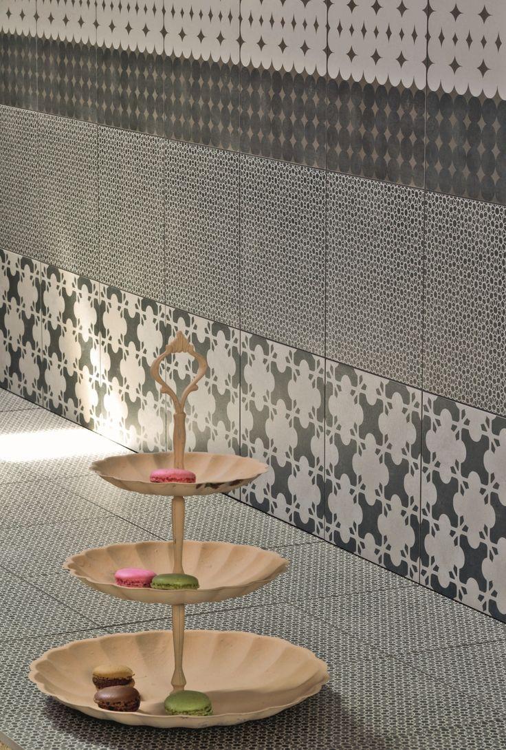 Kirei echopanel geometric tiles building for health - Rev Tement De Sol Mur En Gr S C Rame Maill Azulej Nero Estrela By Mutina Design Patricia