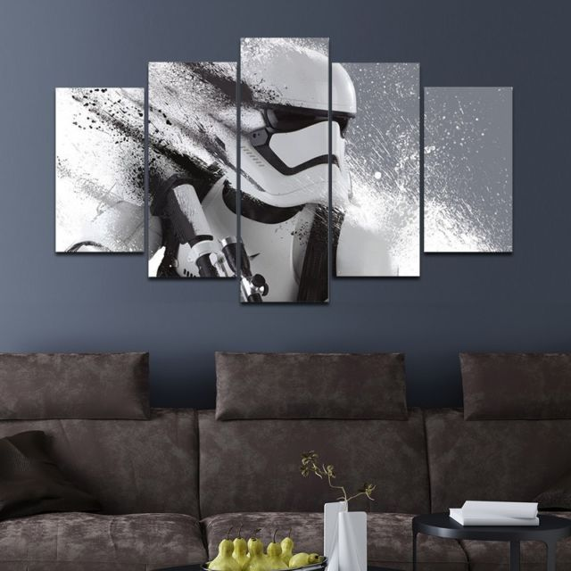 Star Wars Stormtrooper Wall Art Canvas Print Hd Picture Large 5 Piece Home Decor Stormtrooper Wall Art Modern Canvas Painting Home Decor Wall Art