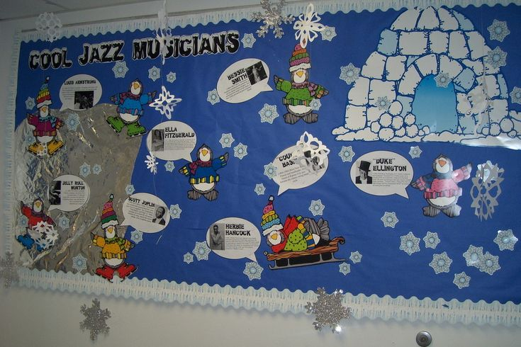 """""""Cool Jazz Musicians"""" Bulletin Board Idea - I don't usually change my bulletin boards for seasons, but perhaps I will start!"""