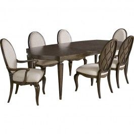 Broyhill Furniture Cashmera 7pc Diningroom Set in Rich Truffle Brown 4860DSET - Formal Dining Sets - Dining Sets by Dining Rooms Outlet