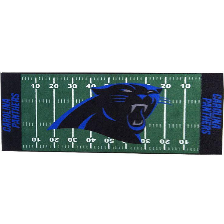 Carolina Panthers | Carolina Panthers Runner Rug   NFL Football Accent  Floor Mat