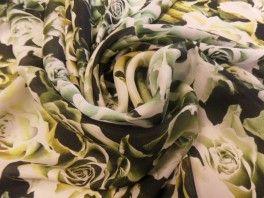 Eysera jedwab zielone róże