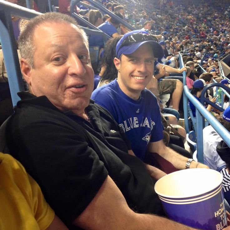 Maury and David were happy that the #BlueJays were winning at the TCOR Council social on Thursday June 18th! They ended up winning 7-1! #ComeTogether