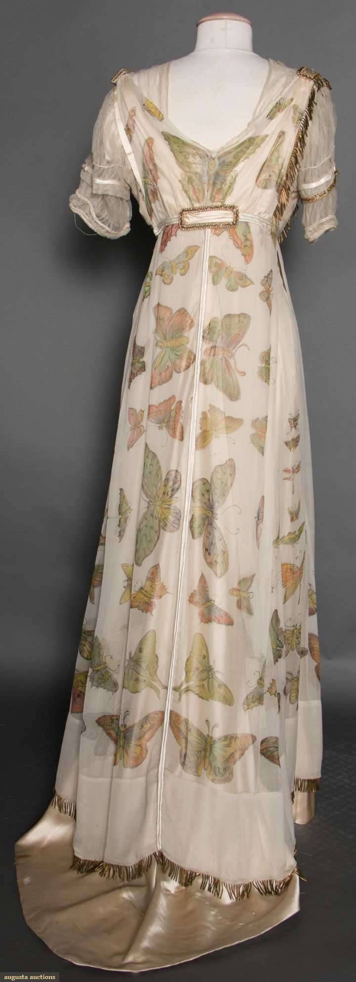 Silk Chiffon Edwardian gown 1912 by Liberty From Augusta Auctions
