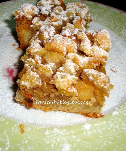 Tante Kiki: Τριφτή μηλόπιτα με crumble καρυδιού
