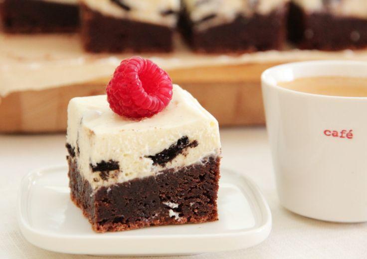 BROWNIE with Oreo cream. Trines matblogg
