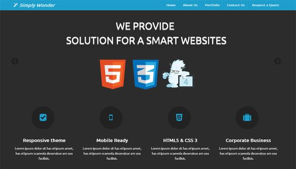 Simply Wonder Zurb Foundation 4 by Hunger Free Themes on Creative Market