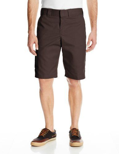 $21, Dickies 11 Inch Regular Fit Stretch Twill Work Short. Sold by Amazon.com. Click for more info: https://lookastic.com/men/shop_items/220200/redirect