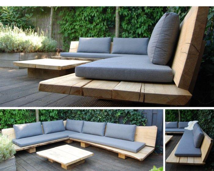 Leuke tuin idee! Wil je zelf ook houten tuin meubels? Ga dan naar www.klusopmaat.nl
