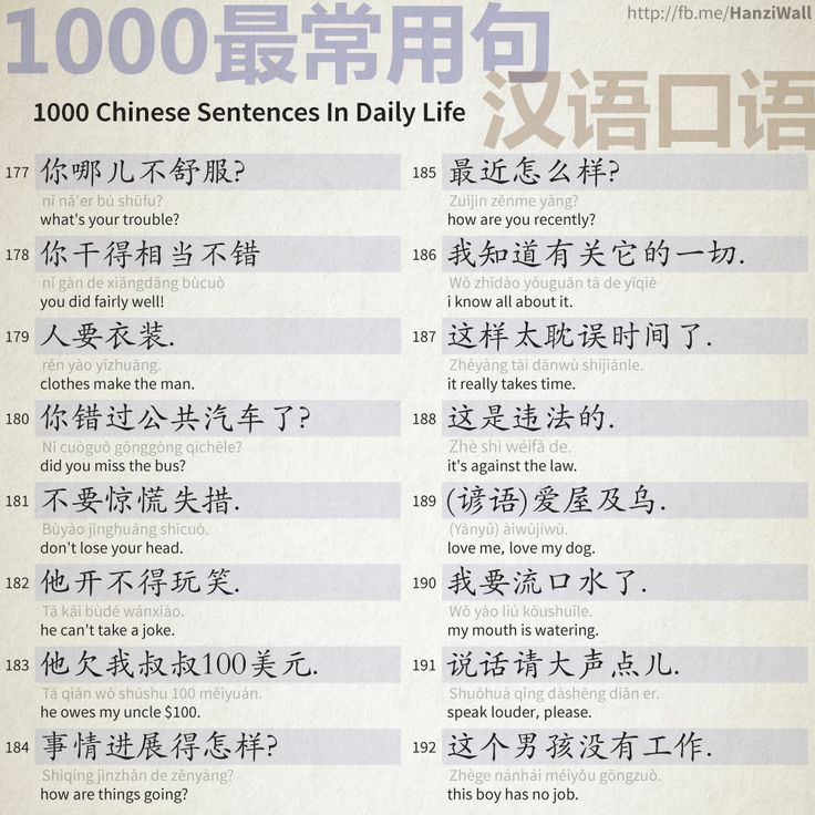 1000 Chinese Sentences In Daily Life - Part 12