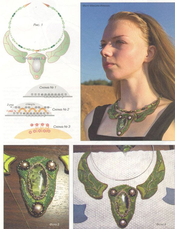 Must translate. Bead Embroidery process & pics. ~ Seed Bead Tutorials
