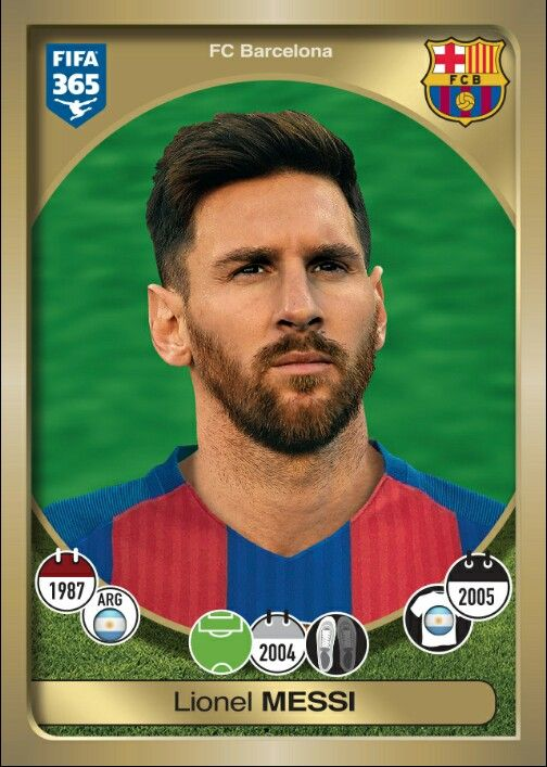 391 Lionel Messi - FIFA 365 - 2016-2017 PANINI