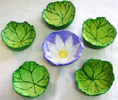 lotus papier mache bowls