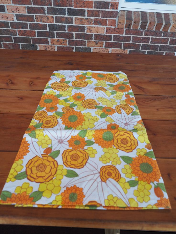 A personal favourite from my Etsy shop https://www.etsy.com/au/listing/558173227/vintage-bed-sheet-1970s-twin-flat-sheet