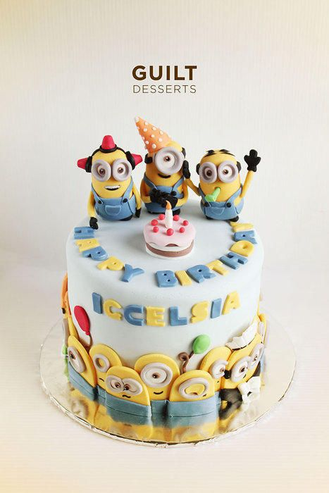 Everybody loves minions..! The customer loved the cake so much… <3 Chocolate cake inside with cookies and cream frosting..
