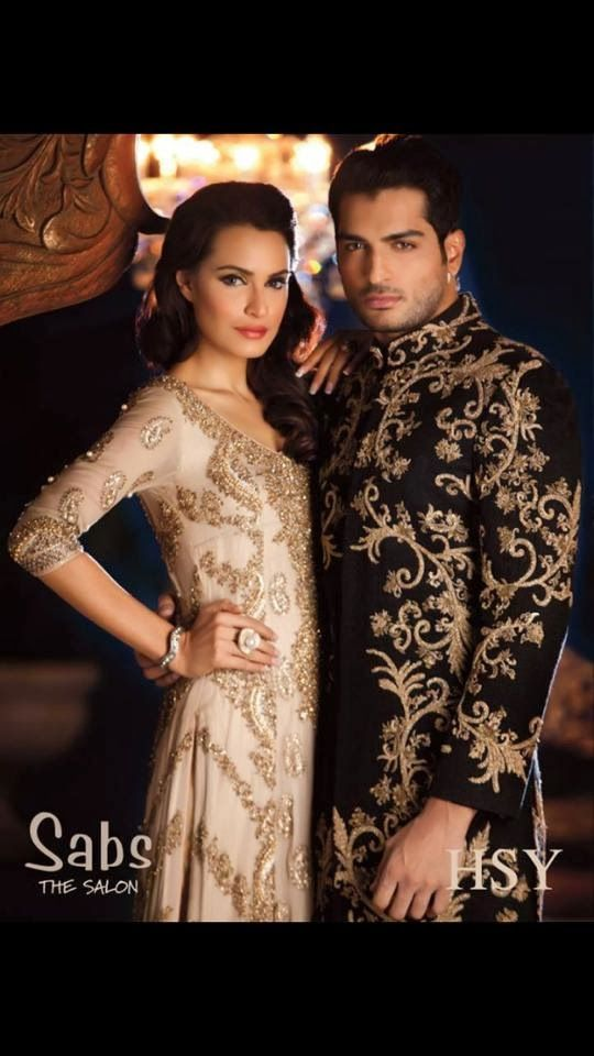 Wedding Outfits for Groom and Bridal By HSY | Wedding Men and Women Dresses 2014-2015 By HSY