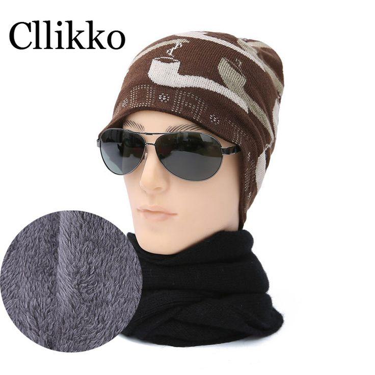 2016 Autumn Winter beanies mens hats Fashion camouflage Casual Cap knitted  hat bonnet plus velvet caps