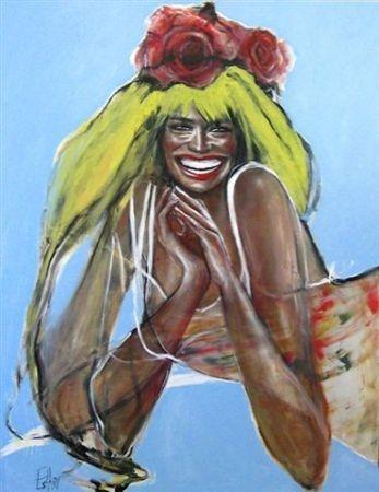 Esther Erlich    Rosie - 2010    Acrylic on canvas    137 x 112 cm