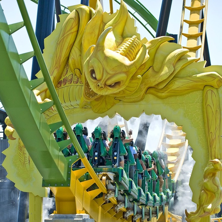 Roller Coaster: Green Lantern, Six Flags Great Adventure in Jackson, New Jersey || Stand up coaster,