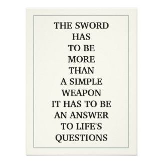 Cool Tattoo Oriental and Japanese Fine Art - Customizable Gifts and Home Decoration from Zazzle: THE SWORD HAS TO BE MORE THAN SIMPLE WEAPON MUSASHI MIAMOTO Samurai SWORDSMAN Quote Poster Print