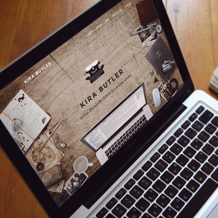 The author website design and branding for YA horror writer, Kira Butler. Designed by Ghosts & Co. http://www.ghostsn.co