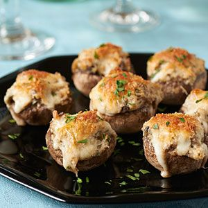 100 Top Tailgating Dips and Appetizers   Stuffed Mushrooms   MyRecipes.com