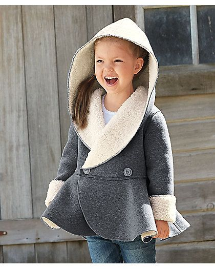girls sherpa reversible jacket