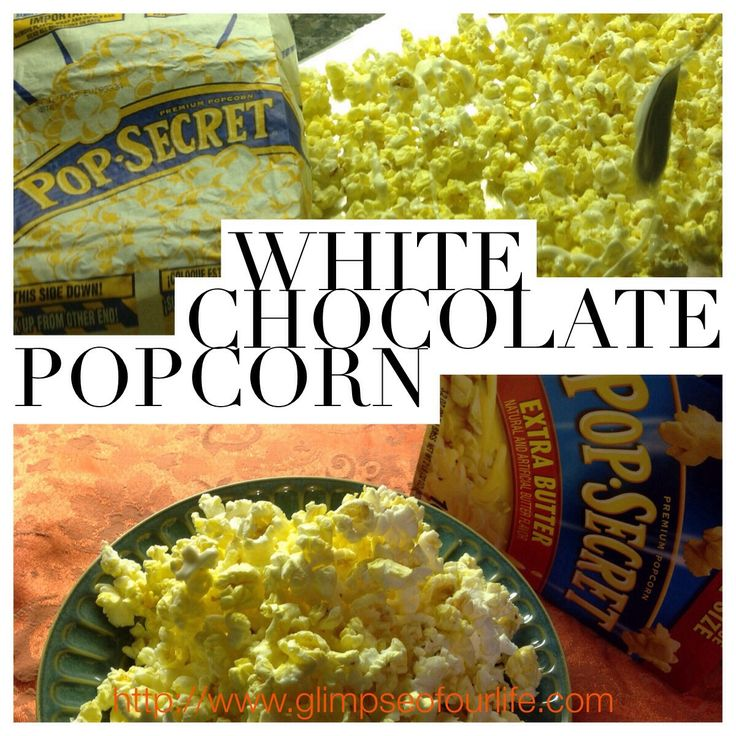 This white chocolate glazed popcorn recipe is easy and fun.  Download a coupon.  #PopSecretForts #sp