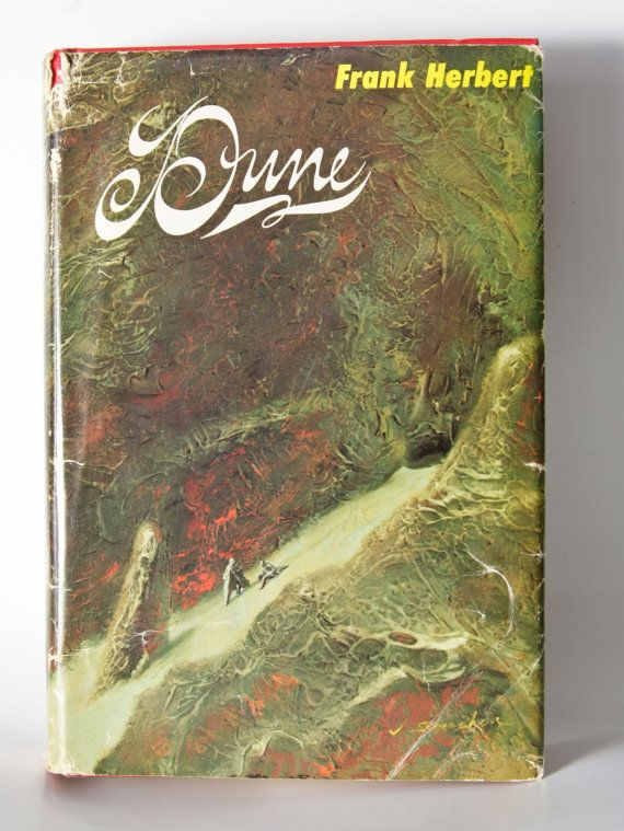 "Classic Science Fiction Movies & Books: ""Dune"", Frank Herbert First Edition Sci Fi Book Club Hardcover w- Jacket"