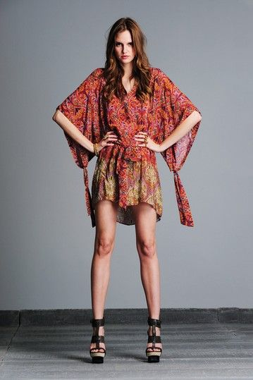 ALEXIS Kendal Kimono Sleeve Silk Dress by Dresses Up To 70% Off on @HauteLook