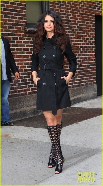 b3eafdc51e7 Selena Gomez and Brian Atwood Electra Leather Cutout Knee-high Boots  Photograph