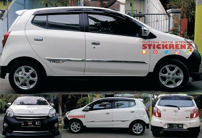Toyota Agya White - Black Mate Bumper & Side Skirt...